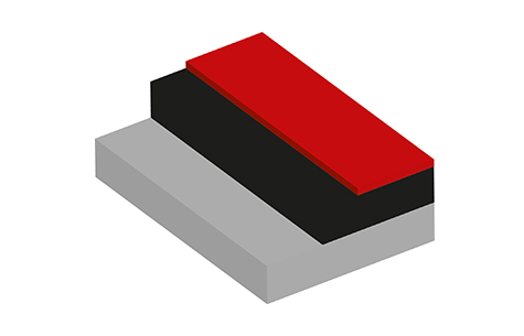 Shown in Tile Red